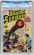 Silver Age (1956-1969):Mystery, House of Secrets #38 (DC, 1960) CGC NM- 9.2 Off-white to whitepages....