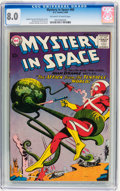 Silver Age (1956-1969):Science Fiction, Mystery in Space #60 (DC, 1960) CGC VF 8.0 Off-white to whitepages....
