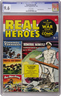 Golden Age (1938-1955):War, Real Heroes Comics #8 Vancouver pedigree (Parents' MagazineInstitute, 1943) CGC NM+ 9.6 White pages....