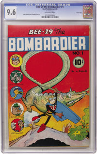 Bee-29 The Bombardier #1 Carson City pedigree (Neal Publications, 1945) CGC NM+ 9.6 Off-white pages