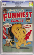 Golden Age (1938-1955):Funny Animal, America's Funniest Comics #2 Carson City pedigree (Wm. H. Wise& Co., 1944) CGC NM+ 9.6 Off-white to white pages. This isth...