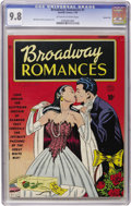 Golden Age (1938-1955):Romance, Broadway Romances #1 Carson City pedigree (Quality, 1950) CGC NM/MT9.8 Off-white to white pages. ...