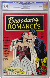 Broadway Romances #1 Carson City pedigree (Quality, 1950) CGC NM/MT 9.8 Off-white to white pages