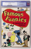 Platinum Age (1897-1937):Miscellaneous, Famous Funnies: A Carnival of Comics #nn (Eastern Color, 1933) CGCVF+ 8.5 Off-white to white pages. ...