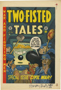 Memorabilia:Comic-Related, Two-Fisted Tales #31 Cover Proof, Signed by Harvey Kurtzman (EC, 1953)....