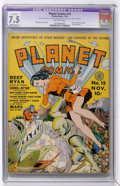 Golden Age (1938-1955):Science Fiction, Planet Comics #15 (Fiction House, 1941) CGC Apparent VF- 7.5Moderate (P) Off-white pages....