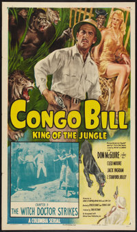 "Congo Bill (Columbia, 1948). One Sheet (27"" X 41"") Chapter 9 -- ""The Witch Doctor Strikes."" Serial..."
