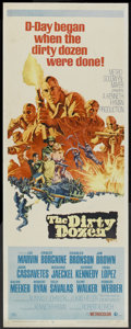 "Movie Posters:War, The Dirty Dozen (MGM, 1967). Insert (14"" X 36""). War.. ..."