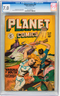 Golden Age (1938-1955):Science Fiction, Planet Comics #60 (Fiction House, 1949) CGC FN/VF 7.0 Cream tooff-white pages....