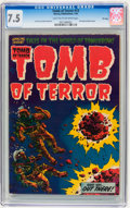 Golden Age (1938-1955):Horror, Tomb of Terror #13 File Copy (Harvey, 1954) CGC VF- 7.5 Light tanto off-white pages....