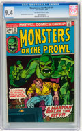 Bronze Age (1970-1979):Horror, Monsters on the Prowl #21 (Marvel, 1973) CGC NM 9.4 Off-white towhite pages....
