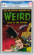 Golden Age (1938-1955):Horror, Weird Tales of the Future #4 (Aragon, 1952) CGC FN/VF 7.0 Off-whiteto white pages....