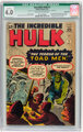 The Incredible Hulk #2 Incomplete (Marvel, 1962) CGC Qualified VG 4.0 Off-white to white pages