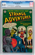 Golden Age (1938-1955):Science Fiction, Strange Adventures #14 (DC, 1951) CGC VF 8.0 Off-white pages....