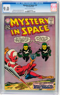 Silver Age (1956-1969):Science Fiction, Mystery in Space #76 (DC, 1962) CGC VF/NM 9.0 Cream to off-white pages....