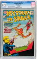 Silver Age (1956-1969):Science Fiction, Mystery in Space #72 (DC, 1961) CGC NM- 9.2 Off-white pages....