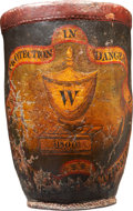 Political:3D & Other Display (pre-1896), George Washington: Very Rare 1800-Dated Leather Fire Bucket....