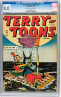 Golden Age (1938-1955):Funny Animal, Terry-Toons Comics #15 (Timely, 1943) CGC VF 8.0 Off-white to whitepages....