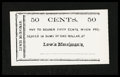 Obsoletes By State:Ohio, Kenton, OH- Lewis Merriman's 50¢ circa 1860's. ...