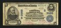 National Bank Notes:Kentucky, Lebanon, KY - $5 1902 Plain Back Fr. 600 The Citizens NB Ch. #(S)3988. ...