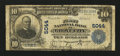 National Bank Notes:Pennsylvania, Grove City, PA - $10 1902 Plain Back Fr. 632 The First NB Ch. # 5044. ...