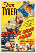 "Movie Posters:Western, Cheyenne Rides Again (Victory, 1937). One Sheet (27"" X 41"").. ..."