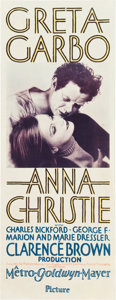 "Movie Posters:Drama, Anna Christie (MGM, 1930). Insert (14"" X 36"").. ..."