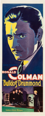 "Bulldog Drummond (United Artists, 1929). Insert (14"" X 36"")"