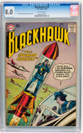 Silver Age (1956-1969):Adventure, Blackhawk #123 (DC, 1958) CGC VF 8.0 Off-white pages....