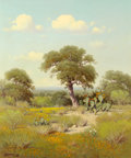 Texas:Early Texas Art - Regionalists, G. (GERALD HARVEY JONES) HARVEY (American, b. 1933). WeatheredOak, 1968. Oil on canvas. 36 x 30 inches (91.4 x 76.2 cm)...