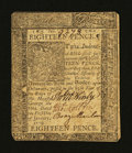Colonial Notes:Delaware, Delaware January 1, 1776 18d Very Fine....