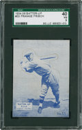 Baseball Cards:Singles (1930-1939), 1934 Batter-Up Frankie Frisch, Blue #33 SGC 40 VG 3....