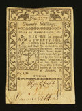 Colonial Notes:Rhode Island, Rhode Island May 1786 20s Extremely Fine....