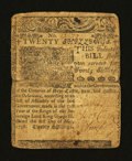 Colonial Notes:Delaware, Delaware May 1, 1758 20s Very Good-Fine....
