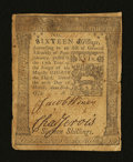 Colonial Notes:Pennsylvania, Pennsylvania March 20, 1773 16s Very Fine....