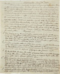 "Autographs:Statesmen, [Yazoo Land Fraud] Perez Morton Autograph Letter Signed. Three andone-half pages, 8"" x 9.75"", Washington, January 16, 1803,..."