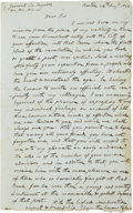 Autographs:Statesmen, [Marquis de Lafayette] William Vernon Jr. Retained Draft of anAutograph Letter to Lafayette (August 1824), accompanied by a...(Total: 2 Items)