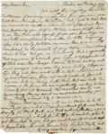 "Autographs:Statesmen, William Vernon Sr. Autograph Letter Signed. Two pages, 7.25"" x 9"",Boston, May 28, 1777, written to his son, William Vernon ..."