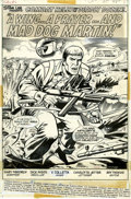 Original Comic Art:Splash Pages, Dick Ayers and Vince Colletta Combat Kelly #6 Splash page 1Original Art (Marvel, 1973)....