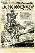 Original Comic Art:Splash Pages, Dick Ayers and Frank Giacoia Gunhawks #7 Splash Page 1Original Art (Marvel, 1973)....
