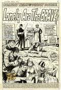 Original Comic Art:Splash Pages, Dick Ayers and Mike Esposito Combat Kelly #2 ConcentrationCamp Splash Page 1 Original Art (Marvel, 1972)....