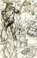 Original Comic Art:Miscellaneous, Gil Kane Punisher page 5 Preliminary Sketch Original Art(Marvel, undated)....