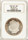 Morgan Dollars: , 1878 8TF $1 MS61 Prooflike NGC. NGC Census: (47/454). PCGSPopulation (57/550). Numismedia Wsl. Price for problem free NGC...