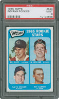 Baseball Cards:Singles (1960-1969), 1965 Topps Indians Rookies #546 PSA Mint 9....