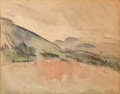 Fine Art - Painting, American:Modern  (1900 1949)  , JOHN MARIN (American, 1870-1953). Mountain Country.Watercolor on paper mounted to painted board. Sheet size: 12 x 15in...