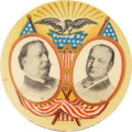 "Political:Pinback Buttons (1896-present), Taft & Sherman: Gorgeous ""Radiating Eagle"" Classic Age Jugate...."
