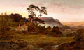 Fine Art - Painting, European:Antique  (Pre 1900), ROBERT GALLON (British, 1845-1925). The Valley of Llanrwst.Oil on canvas. 24 x 40 inches (61.0 x 101.6 cm). Signed lowe...