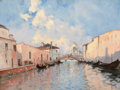 Fine Art - Painting, European:Modern  (1900 1949)  , MARIE JOSEPH CLAVEL (French, 1850-1923). Venetian Canal. Oilon canvas. 18 x 24 inches (45.7 x 61.0 cm). Signed lower ri...