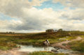 Fine Art - Painting, European:Antique  (Pre 1900), EDMUND MORISON WIMPERIS (British, 1835-1900). Clodagh Moor,Cornwall, 1892. Oil on canvas . 24 x 36 inches (61.0 x 91.4 ...