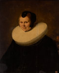 Fine Art - Sculpture, European:Antique (Pre 1900), PROPERTY OF A GENTLEMAN. Manner of REMBRANDT VAN RIJN (Dutch,1606-1669). Portrait of a Woman. Oil on panel. 31-1/4 x ...